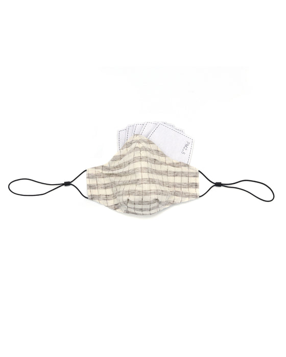 Ten on Ten Natural Checks Unisex Adult Mask