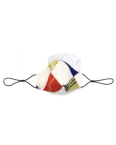 Ten on Ten Patchwork Cotton Mask (White)