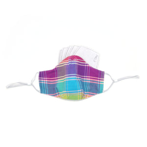 Ten on Ten Madras Checks Adult Mask