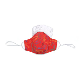 Red Sneakers Print Face Mask