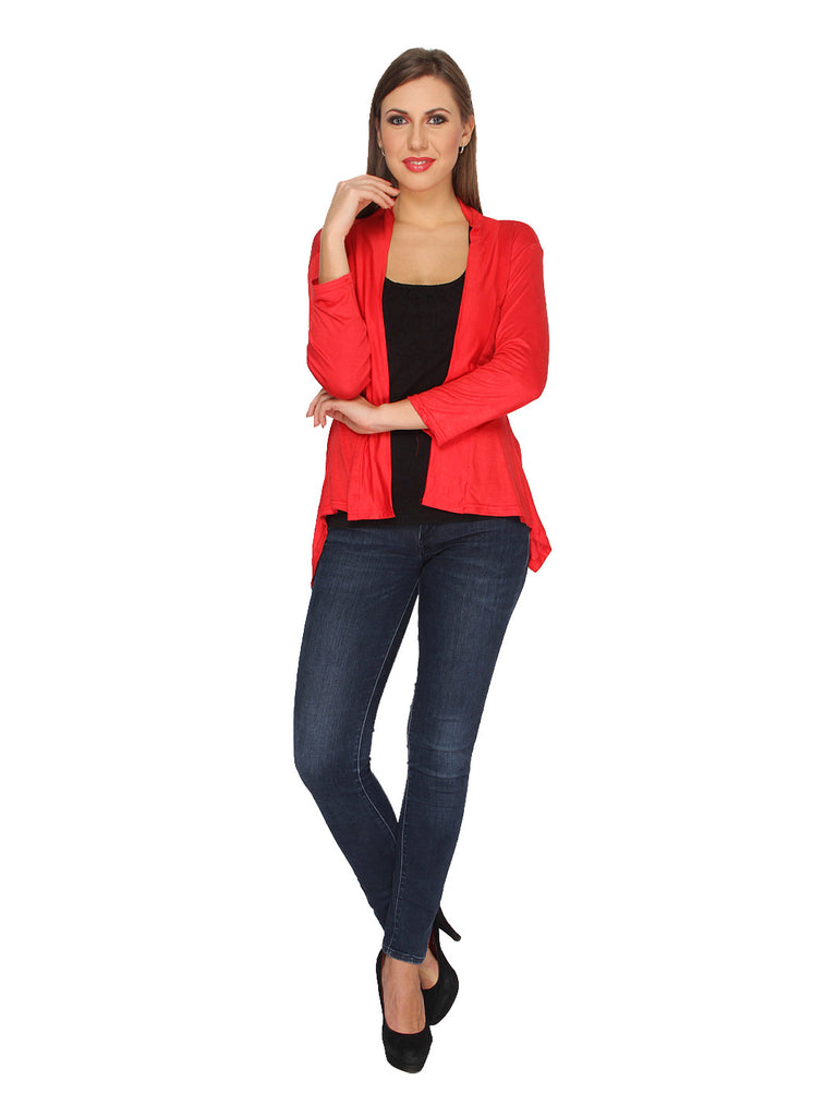 Ten on Ten Women's Red Long Shrug