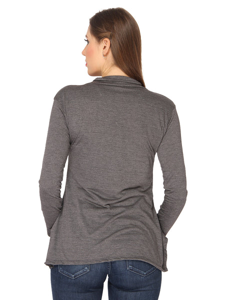 Ten on Ten Women's Cotton Pair of Carbon Grey/ Navy Blue Long