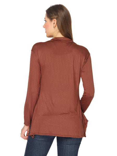 Ten on Ten Women's Pair of Pink/ Brown Long Shrug