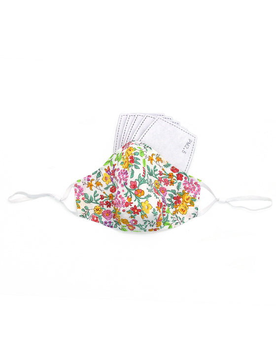 Mulitcolor Floral Cotton Mask(nose wire embedded)