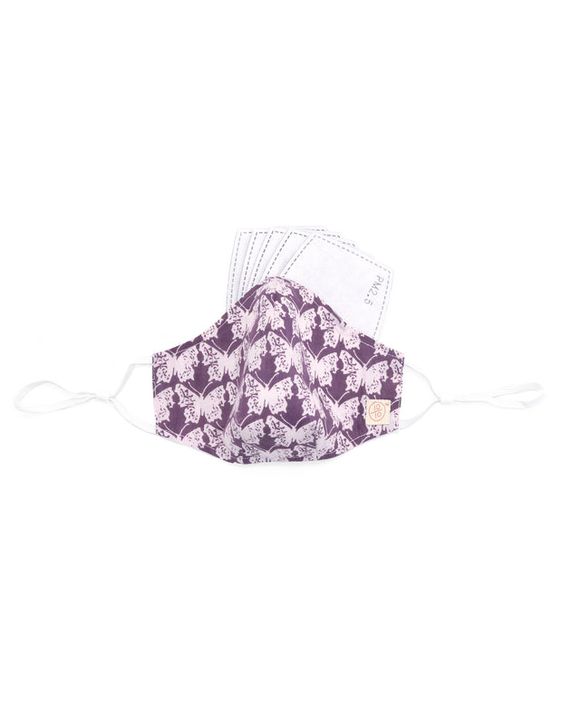 Handblock Butterfly Mask (nose wire embedded) 1