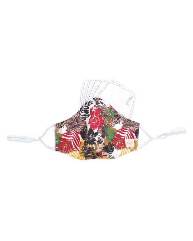 Macaw Bird Colors Cotton Mask (nose wire embedded) 1