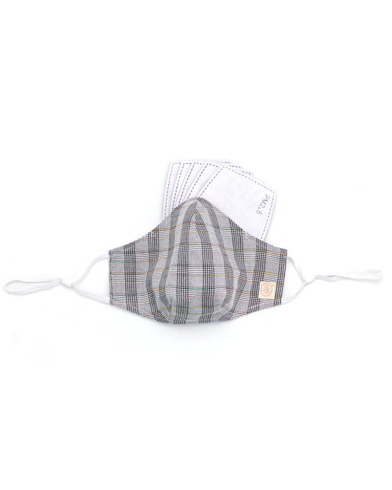 Glen Plaid Cotton Mask (nose wire embedded)