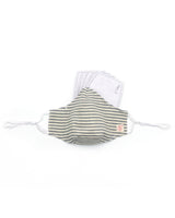 Beige Organic Stripe Mask (nose wire embedded)