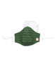 Green Self Weaved Stripe Mask (nose wire embedded) 1