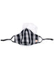 Black White Gingham Checks (nose wire embedded) 1