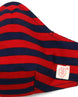 Red and Navy Horizontal Stripes (nose wire embedded) 1