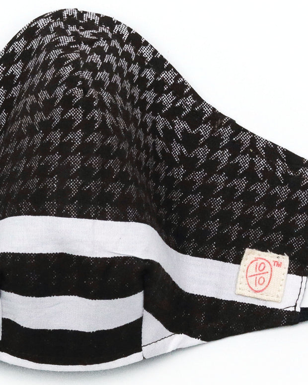 Stripe Houndstooth Blend (nose wire embedded) 1