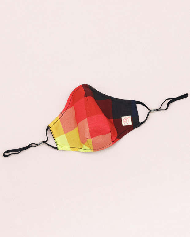 Geometrical Multicolor Mask (nose wire embedded) 1