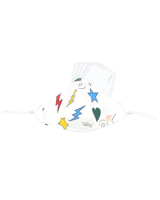 Thunderbolt Multicolor Mask (nose wire embedded)