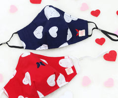 Valentine's Day Special Heart Mask (nose wire embedded)