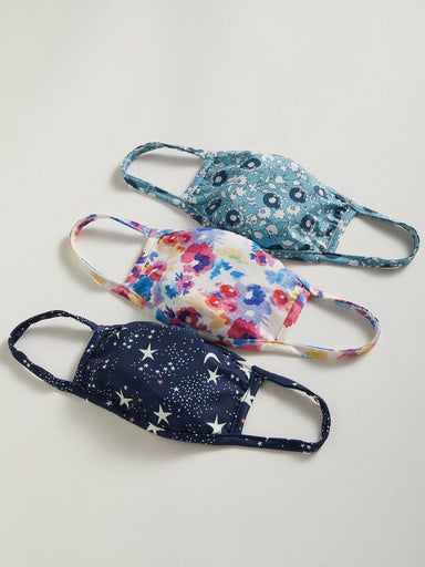 Summer Floral Adult Mask Pack of 3