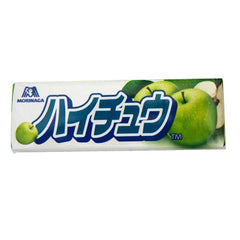 Hichew Green Apple Ingredients: Syrup, sugar, vegetable oil, gelatin, concentrated apple juice (Granny Smith 56%, Wang Lin 44%), apple jam, acidulant, emulsifier, flavoring, safflower yellow pigment, gardenia blue dye Allergen: apple, gelatine