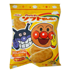 Anpanman soft rice cracker Ingredients: Non-glutinous rice , plants (including wheat, soybeans) fat, starch, sugar, soy sauce powder, fructo-oligosaccharides, salt