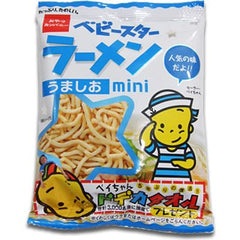 Baby Star Snack Usushio Ingredients: Wheat flour, vegetable oils and fats, good taste salt flavor powder (protein hydrolyzate, glucose, salt, chicken extract powder, vegetable powder, yeast extract powder, sugar, lactose, spices, seasonings oil), protein hydrolyzate , (including milk components to some of the raw materials, soybean, pork, gelatin) spices, seasoning (such as amino acids), emulsifier, caramel color, antioxidants (vitamin E), acidulant, flavoring Allergen: Wheat, chicken, milk