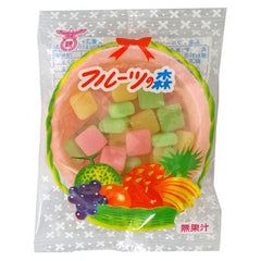 Fruits Forest Gummy Candy  Ingredient: Syrup, sugar, glutinous rice, starch, vegetable oils and fats, sorbitol, emulsifier, flavoring, acidulant, coloring (red 106, yellow 4, blue 1), brightening agent [during] flour, cornstarch, vegetable oil, salt, leavening agent , coloring (red 106), flavoring