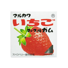Marukawa Strawberry Gum Ingredients: Sugar, glucose, starch syrup, strawberry juice, starch, gum base, acidulant, thickener (gum arabic), flavoring, calcium lactate, fruit dyes, brighteners <strawberry flavoring use>