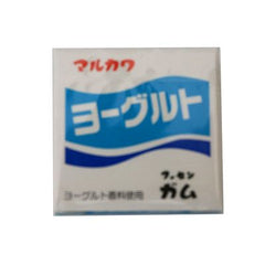 Marukawa yogurt Gum Ingredients: Sugar, glucose, starch syrup, starch, gum base, softening agent, acidulant, flavoring, safflower dye