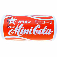 Orion Mini Cola Ramune Tablet  Ingredients: Sugar, syrup, acidulant, emulsifier, flavoring, tamarind dye