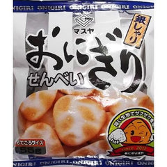 Onigiri Senbei Ginshari Ingredients: Non-glutinous rice (domestic, from USA), vegetable oil, reduced starch syrup, salt, seasoning (such as amino acids), perfume, antioxidants (vitamin E) Allergen: soybeans