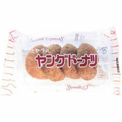 Mitaya-no Young Doughnut  Ingredients: Flour, sugar, eggs, vegetable oil, honey, milk, salt, cereal extract, sorbitol, expansion agents, perfumes, anti-oxidants (V.E) Allergen: egg, milk, wheat