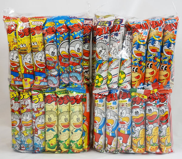 "Assorted Japanese Junk Food Snack ""Umaibo"" 100 Pieces of 11 Flavor"