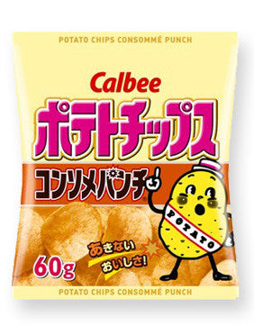 Calbee Potato Chips Consomme Punch flavor: 60g (2.1oz)