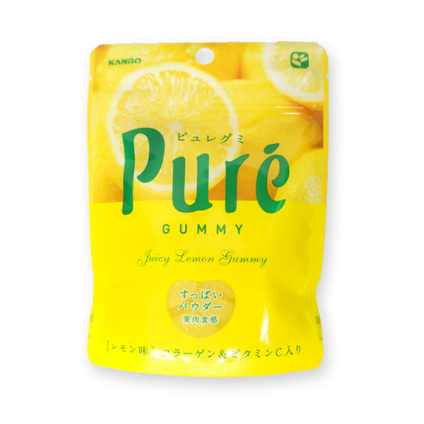 Kanro Pure Gummy (Fruits Gummy Candies) Lemon Flavor: 56g (1.97 oz)