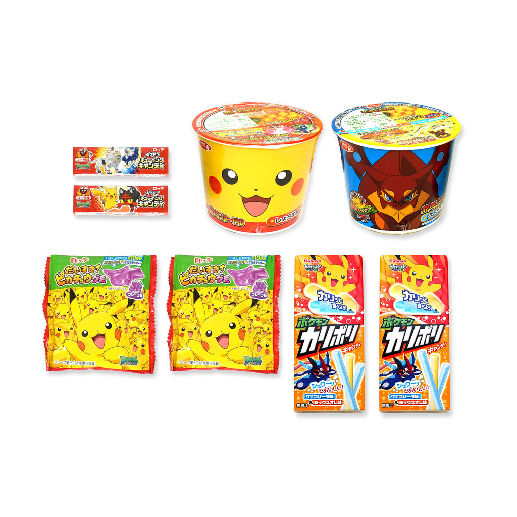 Assortment of Pokemon Sweets & Snacks 8 Packs Set