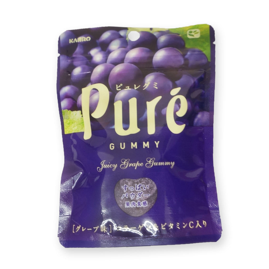 Kanro Pure Gummy (Fruits Gummy Candies) Grape Flavor: 56g (1.97 oz)