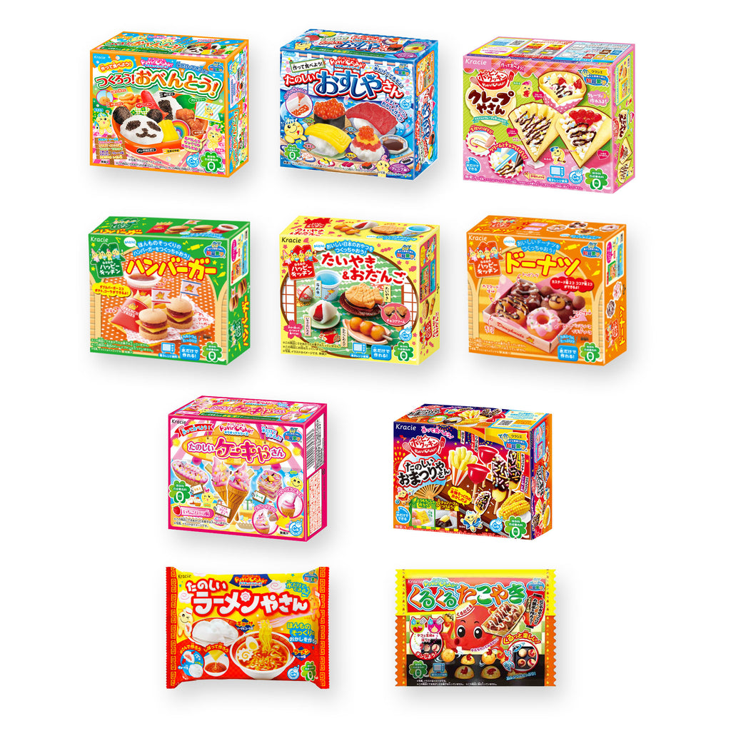 "Kracie DIY Candy ""Popin Cookin & Happy Kitchen"" 10 Packs Set"