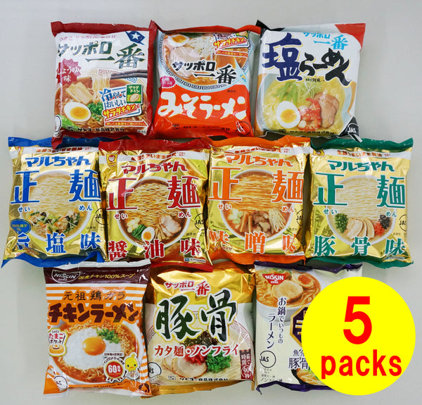 Instant Noodles 5 Packs of Variety Ramen Set