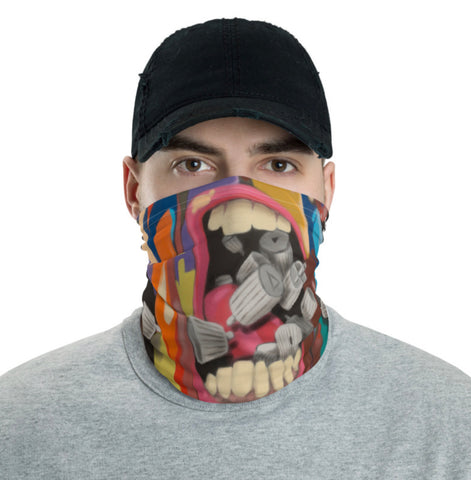 "NEW! ""MOUTH FULL OF CAPS"" - Face Cover / Neck Gaiter"