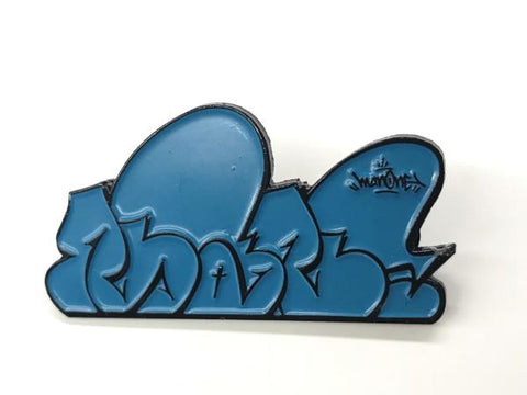 """MAN ONE: BLUE THROWIE"" - Enamel Pin"