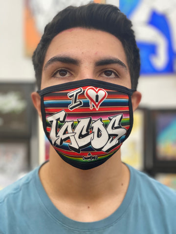 "NEW! ""I  ❤️ TACOS"" - Face mask"