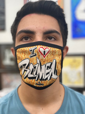 "NEW! ""I  ❤️ RAMEN"" - Face mask"