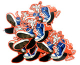 """CHUCKS/SNEAKER CREATURES"": VINYL DIE CUT STICKER"