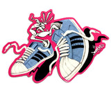"""SHELLTOE/SNEAKER CREATURES"": VINYL DIE CUT STICKER"