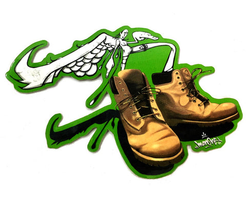 """TIMBS/SNEAKER CREATURES"": VINYL DIE CUT STICKER"