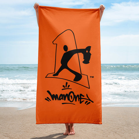 NEW! MAN ONE LOGO - Beach Towel (Orange)