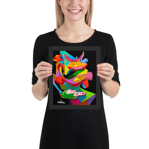 "NEW! ""SMILE NOW"" - Framed photo paper poster"