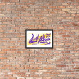 NEW! LAKERS CHAMPS 2020! - Framed poster