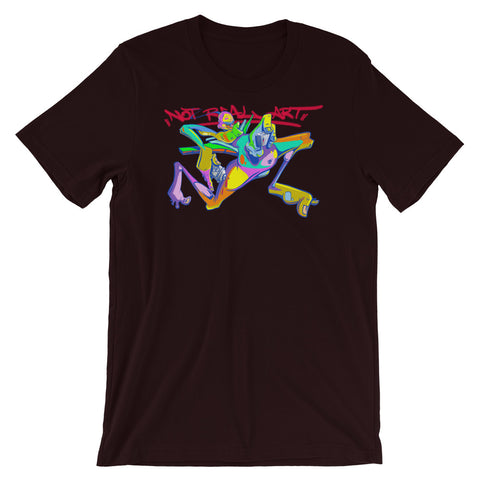 "NEW! ""NOT REAL ART SPIRIT"" - Short-Sleeve Unisex T-Shirt"