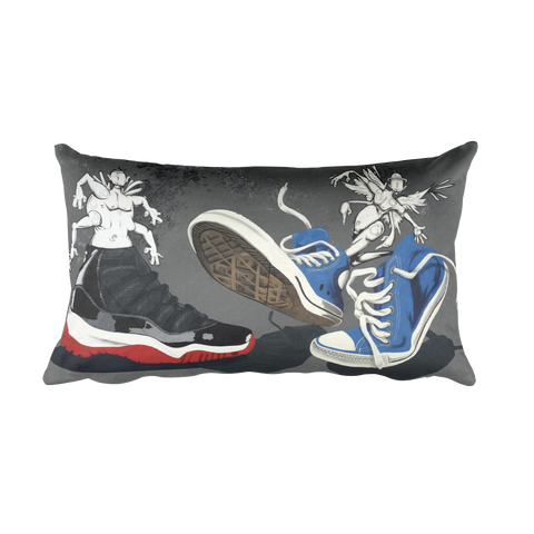 "NEW! ""SNEAKER CREATURES"" - Rectangular Pillow"