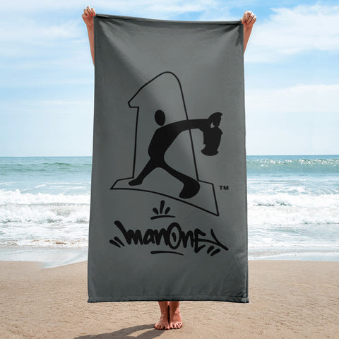 NEW! MAN ONE LOGO - Beach Towel (Dark Gray)