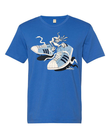 """SHELLS: SNEAKER CREATURE"" - Short sleeve men's t-shirt"